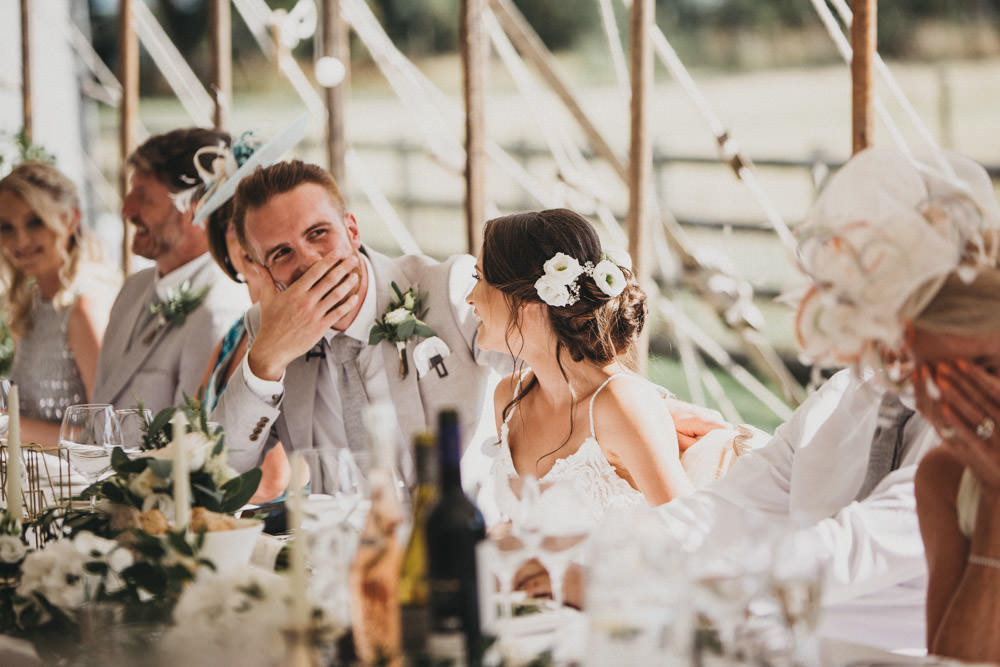 best man speech photo of embarrassed groom