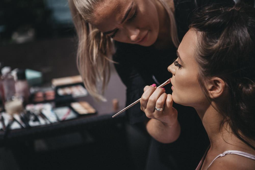bride prep makeup artist
