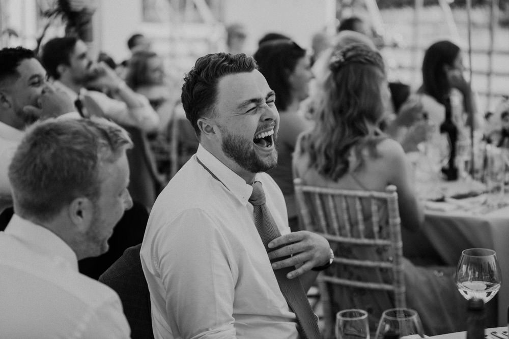 wedding speech guests reaction photo