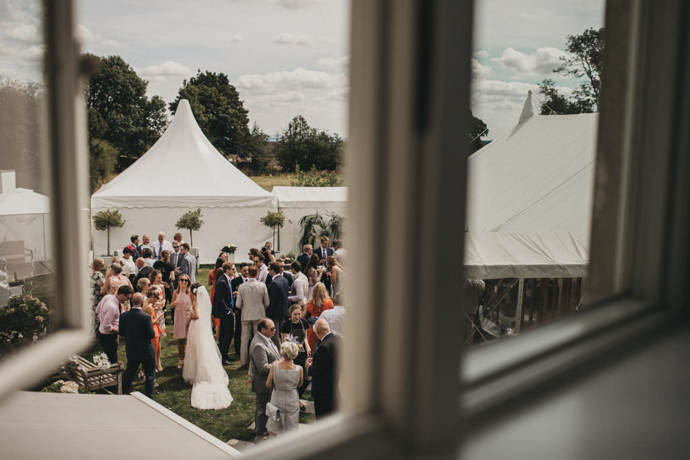 outdoor summer wedding reception in Derbyshire