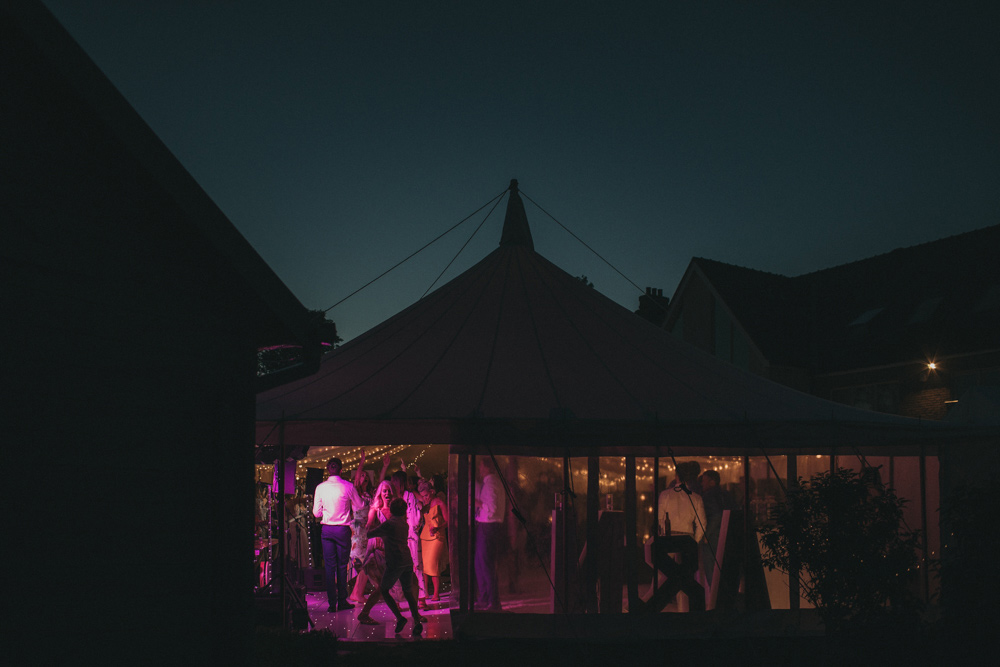 marquee tent wedding reception in Derbyshire