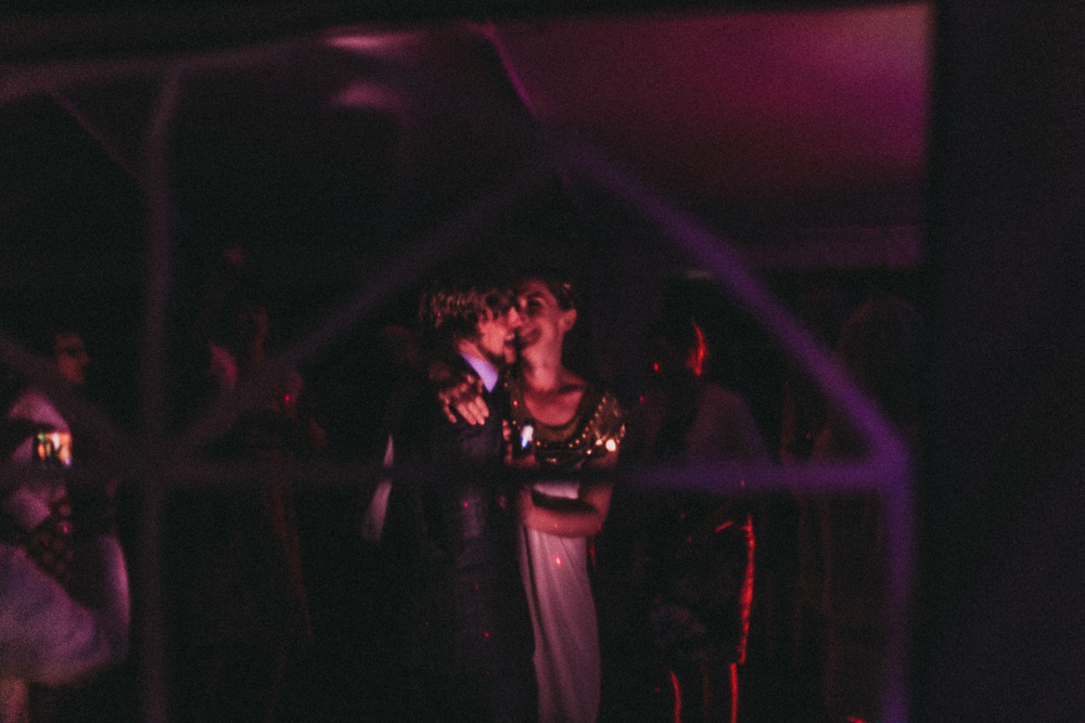 bride and groom dancing in marquee