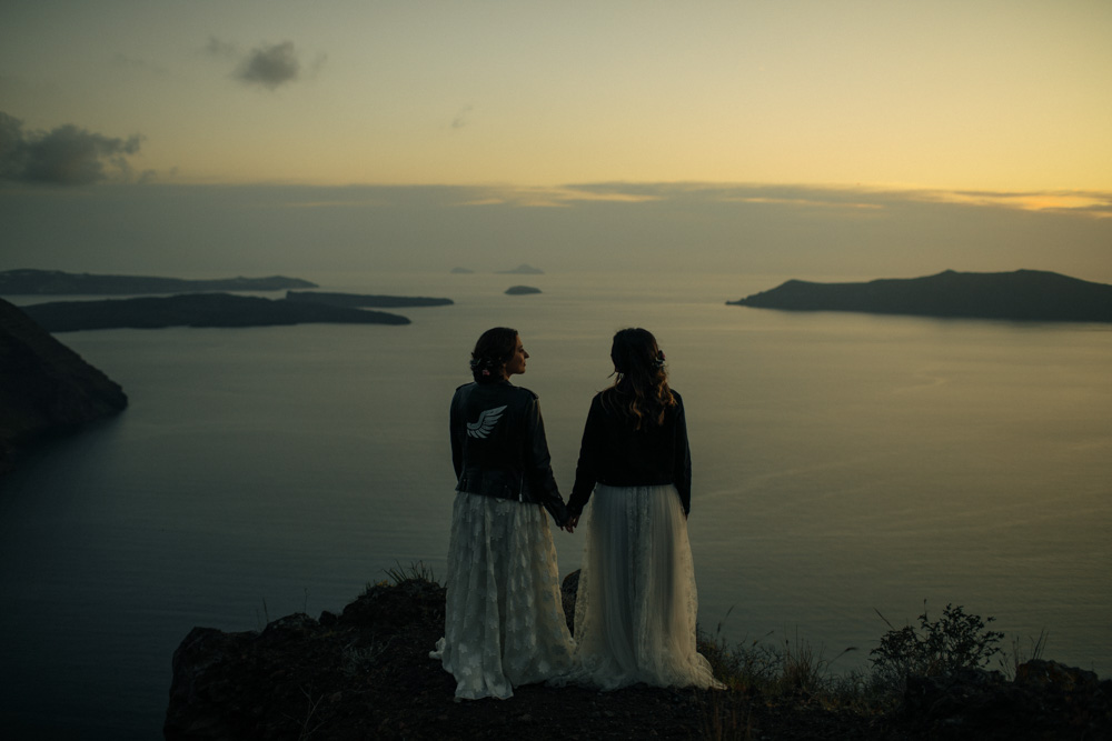 Santorini wedding shoot