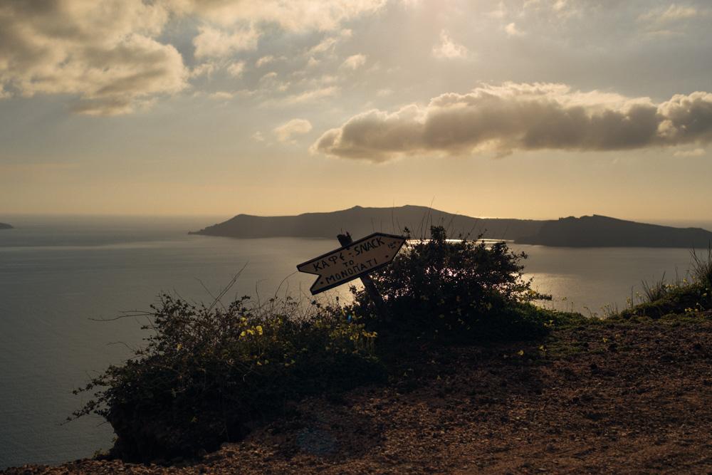 Santorini landscape view
