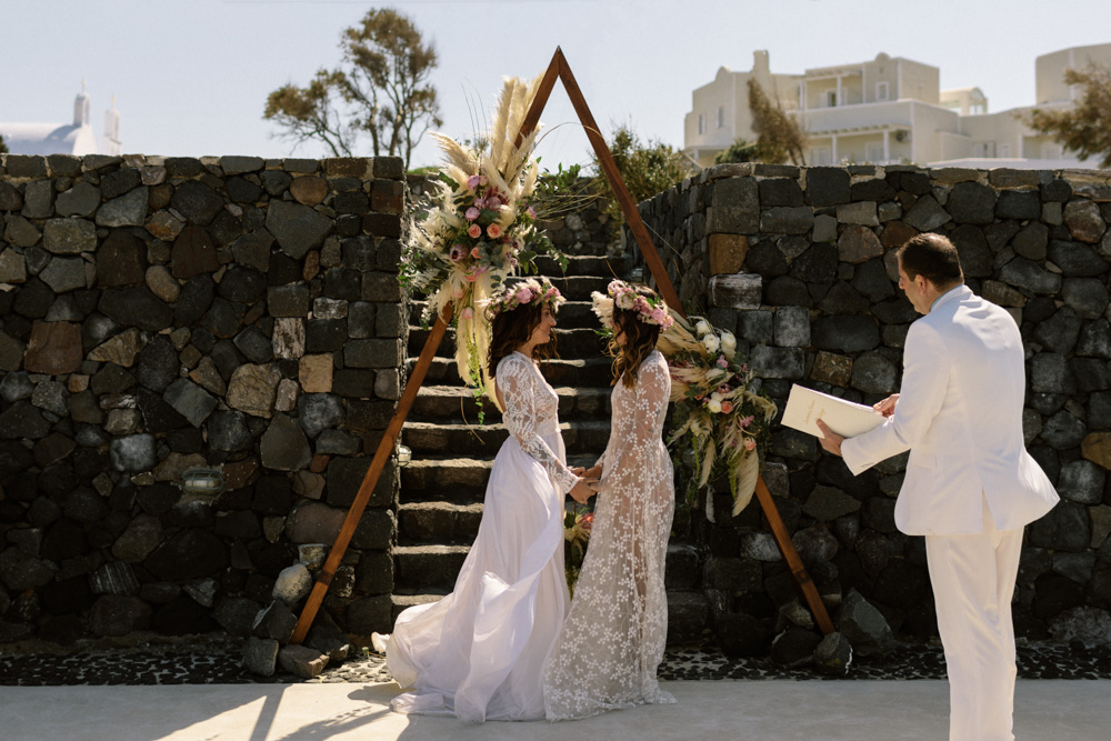 Saint Antonio Vineyard wedding venue in Santorini