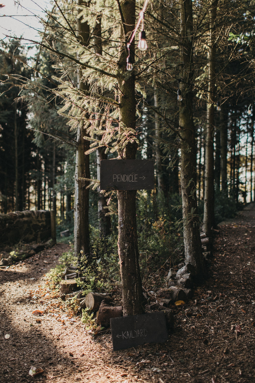 Woodland wedding venue in Scotland