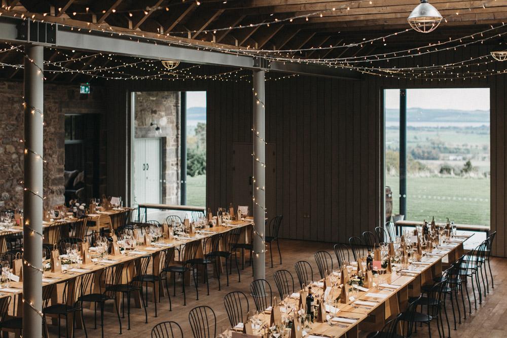 Guardswell Farm barn wedding reception