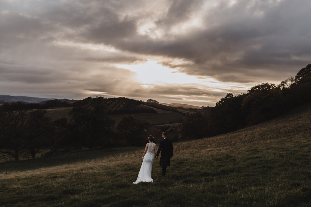 Bride and Groom outdoors in Scotland