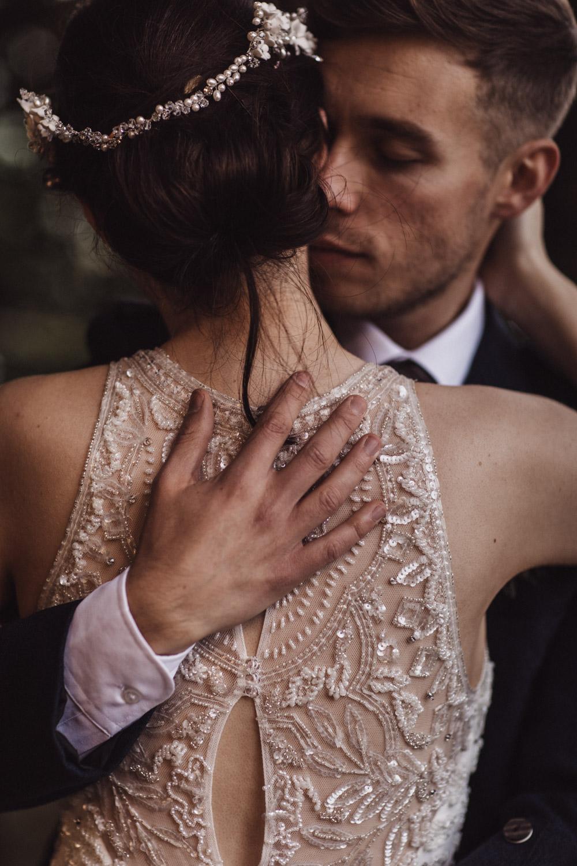Scottish woodland wedding photo